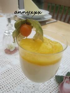 Vanille Creme mit Mango  (2)