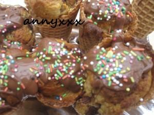 Peppermin Chunk Ice Cream Cone  (6)